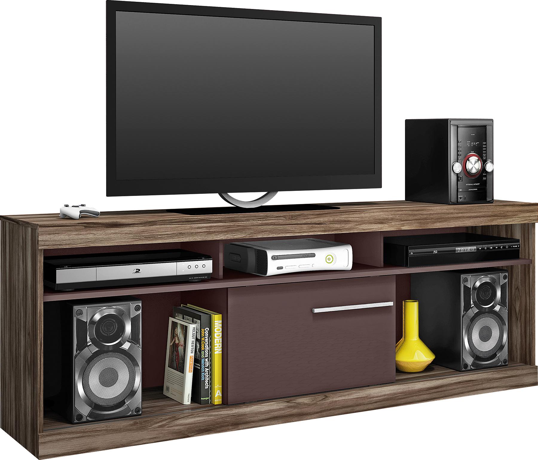 mueble para televisor y equipo de musica