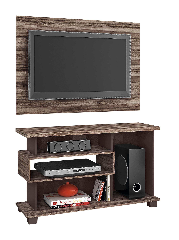 Duo mueble con panel tv pantalla equipo sonido dual cod - Muebles para equipo de sonido ...