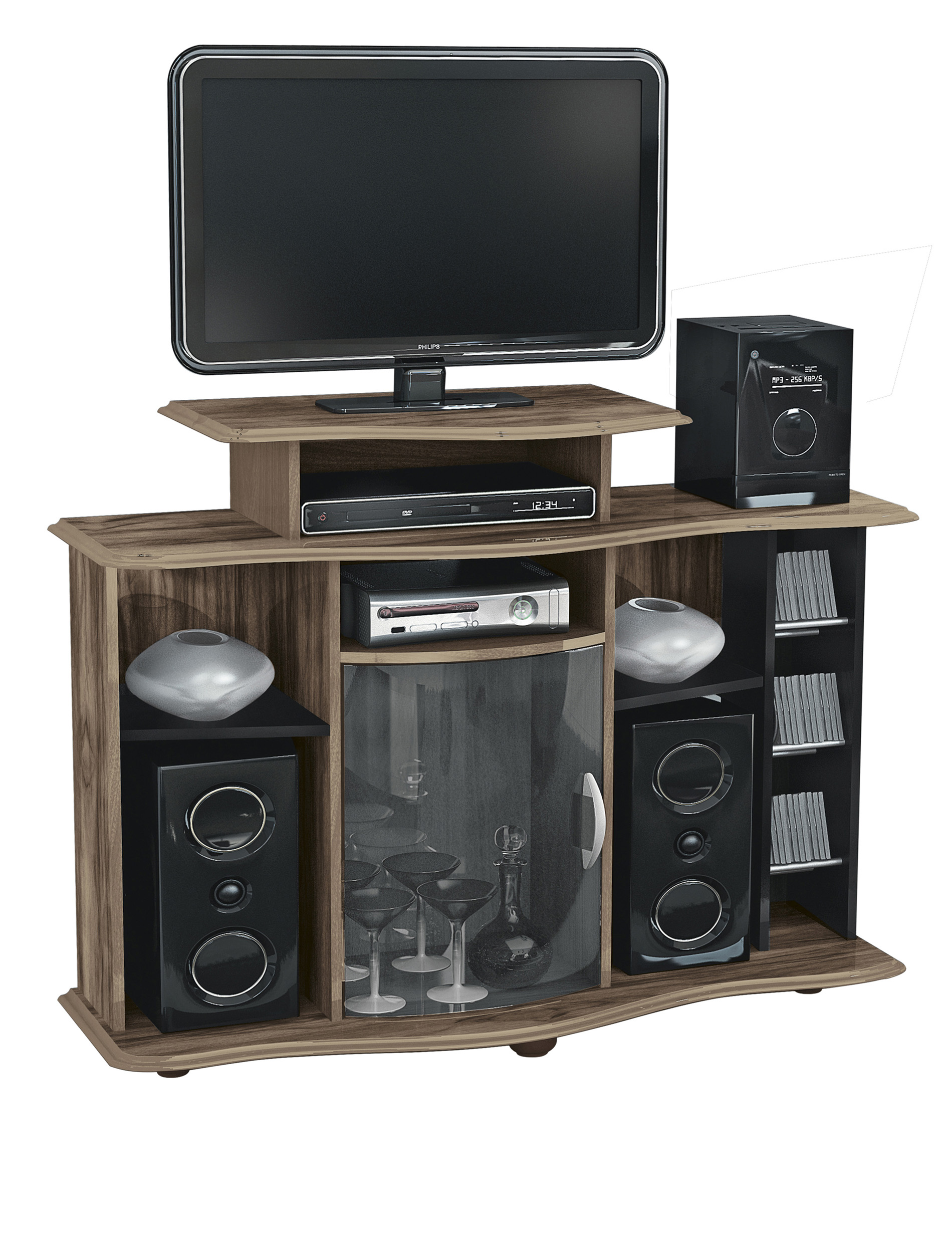 mueble para tv pantalla equipo de sonido milao cod 5165