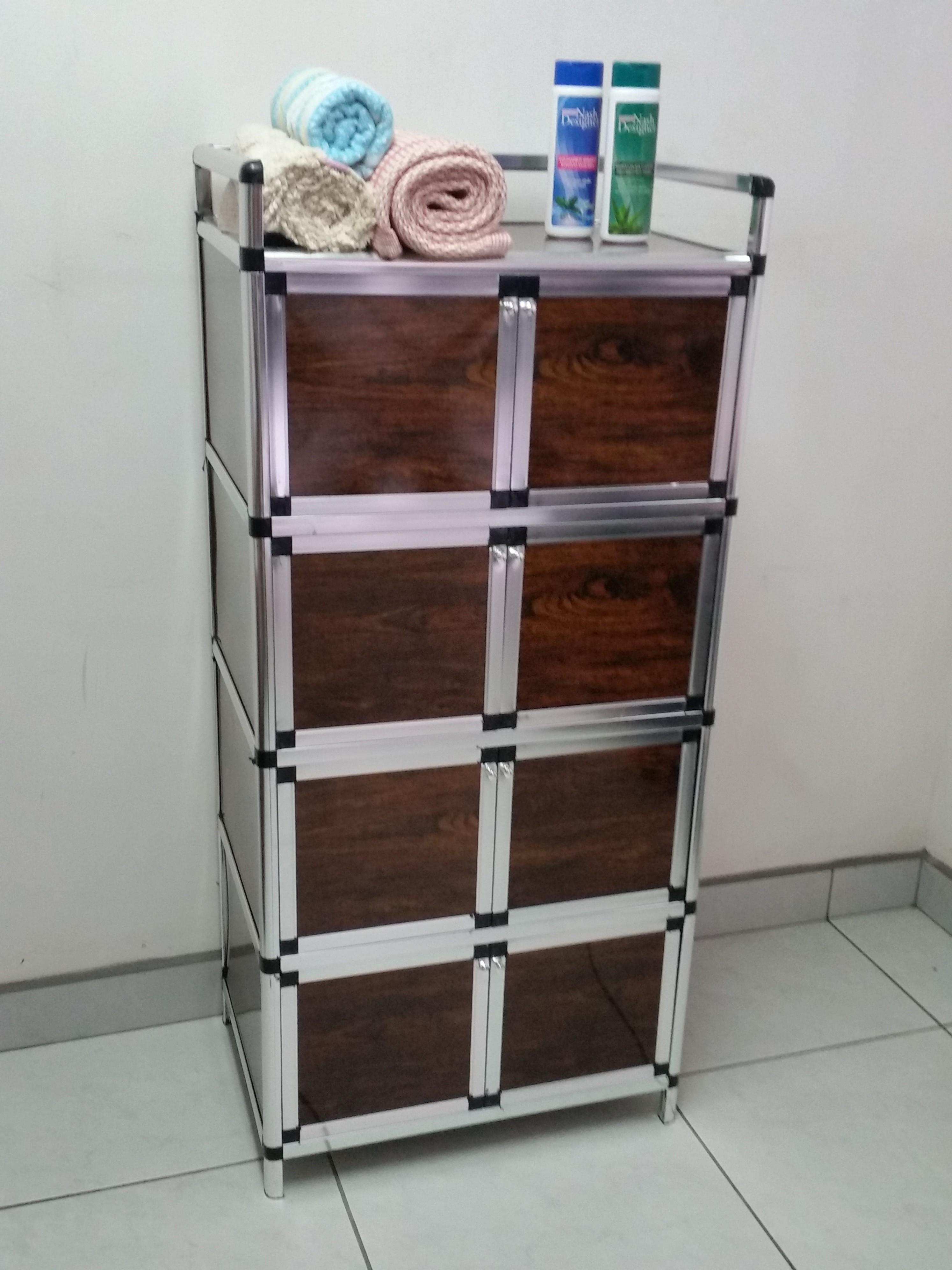 Mueble organizador vertical multiuso con 8 puertas labnash for Mueble organizador