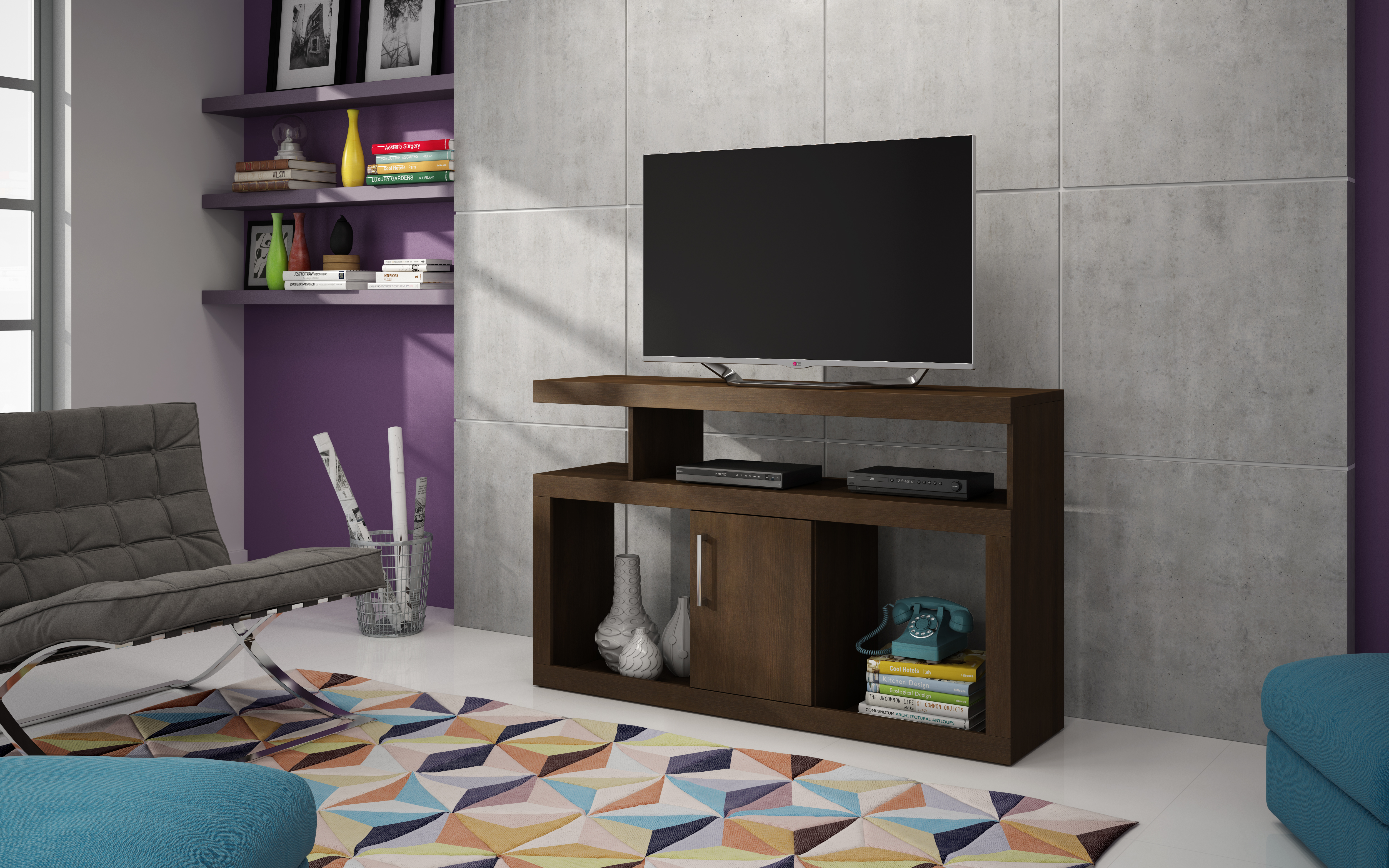 Mueble Para Pantalla Tv Modelo Br 370 Labnash